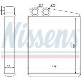 Ψυγείο καλοριφέρ NISSENS 70228